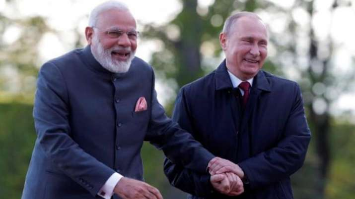 PM Modi with Russian President Vladimir Putin