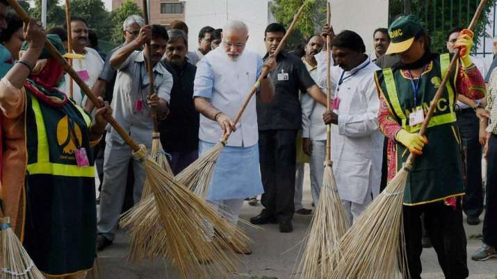 India Tv - Swachh Bharat Abhiyan or Swachh Bharat Mission is a nation-wide campaign in India for the period 2014 to 2019 that aims to clean up the streets, roads and infrastructure of India's cities, towns, and rural areas.
