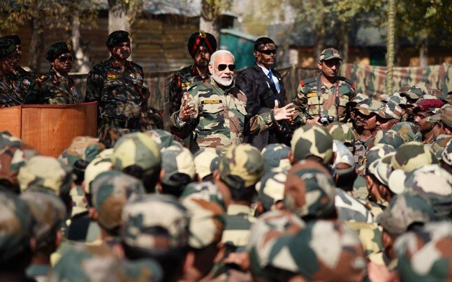 India Tv - Prime Minister Modi with the soldiers of the Indian Army. During the 5 years of Modi government, he has given the Indian Army a free hand to deal with terrorism and insurgency. From Surgical Strikes in 2016 to the recent Air Strikes in Balakot, Modi has always believed in returning the favour to those who plot any kind of misadventure against India.