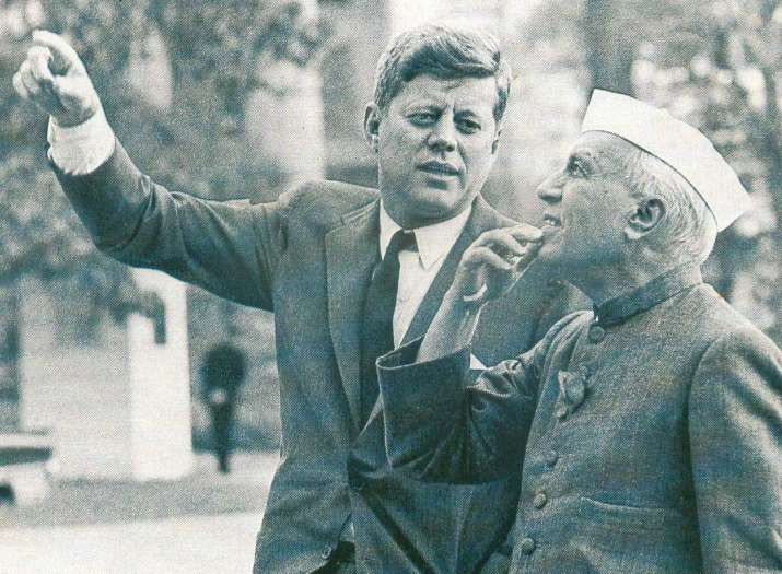 India Tv - Prime Minister Nehru with United States President John F Kennedy