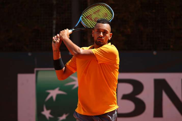 Watch Nick Kyrgios Slams Racket And Throws Chair During Italian Open Match Gets Suspended Tennis News India Tv