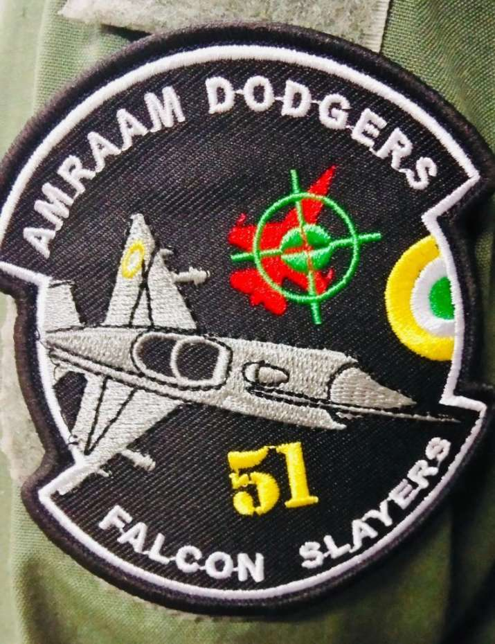 The said patch shows a MIG-21 Bisonand a red-coloured