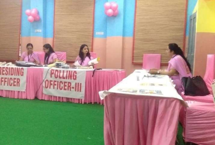 The concept of pink polling booths is not new though, as we