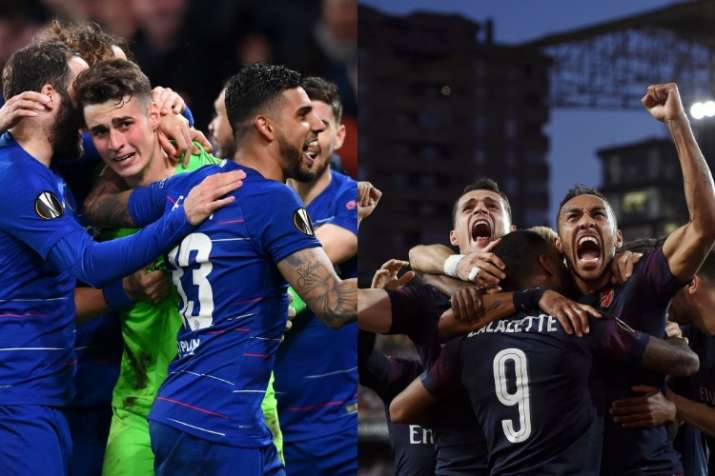English sweep as Chelsea, Arsenal reach Europa League final