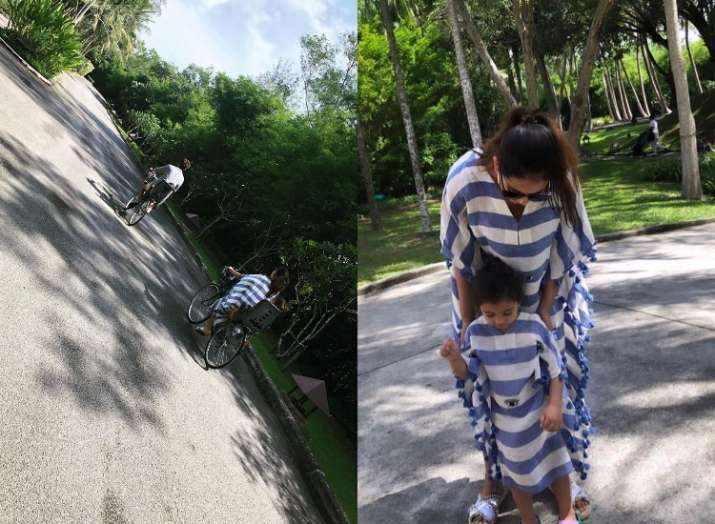 India Tv - Shahid Kapoor and Mira Rajput's vacation pictures