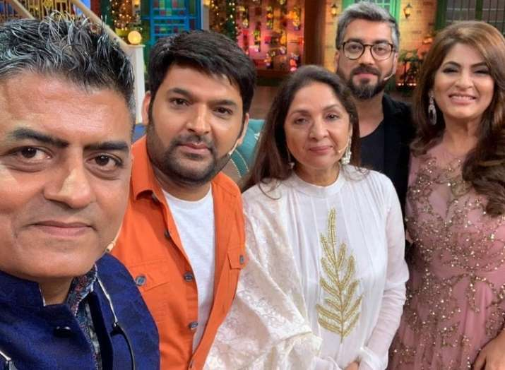 Gajraj Rao and Neena Gupta on The Kapil Sharma Show