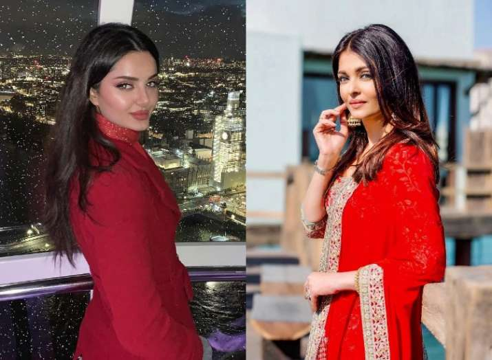 India Tv - Aishwarya Rai Bachchan has doppelganger in Iranian model Mahlagha Jaberi