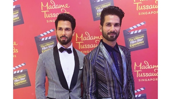 Shahid Kapoor's wax statue in Madame Tussauds Singapore