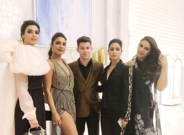 Priyanka Chopra and Nick Jonas' picture with Hina Khan is high on glamour