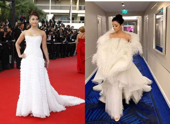 India Tv - Aishwarya Rai Bachchan looks straight out of a fairytale in white on Cannes 2019 red carpet