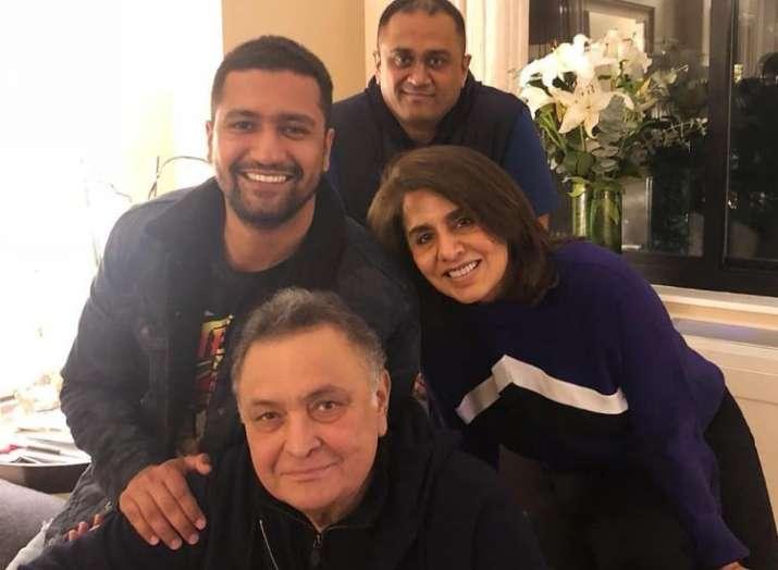 After Bollywood Diva Deepika Padukone, Vicky Kaushal meets Rishi and Neetu Kapoor in the U.S