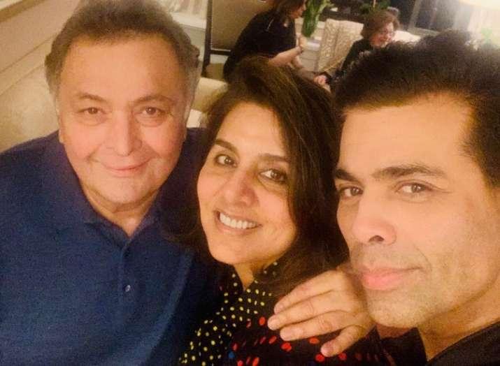After Deepika Padukone and Vicky Kaushal now Karan Johar visits Rishi Kapoor and Neetu Kapoor
