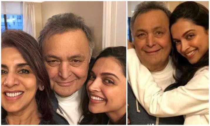 Pics: When Deepika Padukone visited Rishi Kapoor and Neetu
