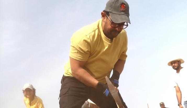 Aamir Khan, kiran rao, may day, labour day, maharashta day