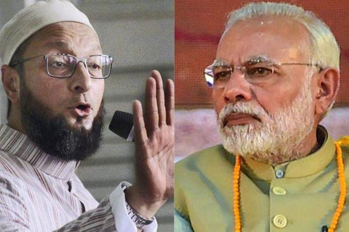 Asaduddin Owaisi and PM Narendra Modi