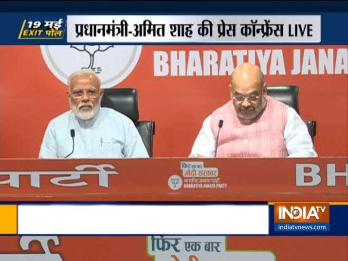 WATCH LIVE | PM Modi, Amit Shah address BJP press conference
