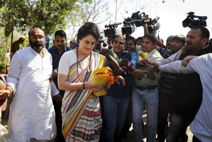 Priyanka Gandhi, who made an official entry into politics