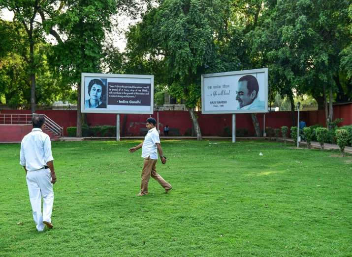 Congress Party headquarters ahead of Lok Sabha elections