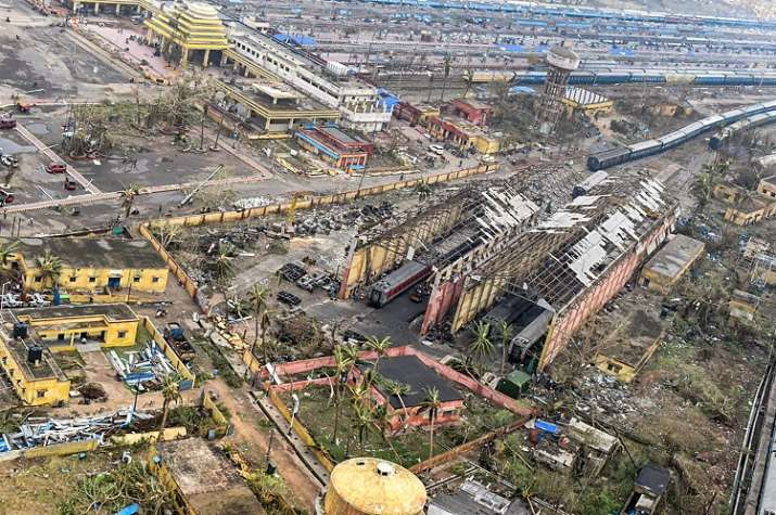 A bird's eye view of the destruction caused by Cyclone