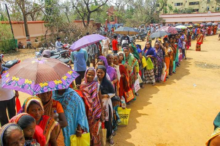 India Tv - Bhubaneswar: Villagers affected by cyclone 'Fani' stand in a queue to collect relief material at a camp