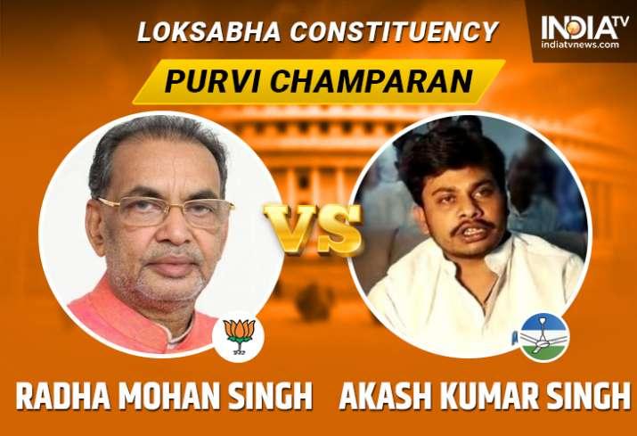 Purvi Champaran Lok Sabha seat: Radha Mohan Singh leads
