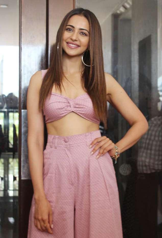 India Tv - Rakul Preet Singh looks pretty in rosy-hued outfit, sensational in black attire; See De De Pyaar De