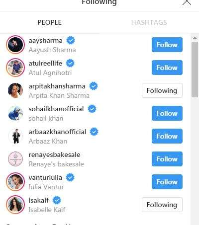India Tv - Salman Khan follows only eight people on Instagram