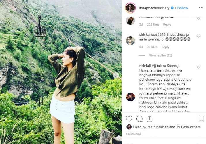 India Tv - Comments on Sapna Chaudhary's Instagram picture
