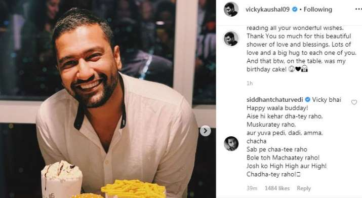 India Tv - Siddhant Chaturvedi's comment