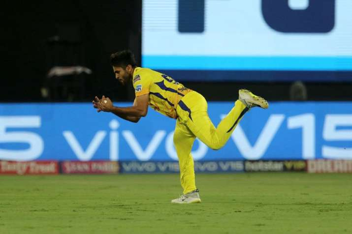 The CSK bowler takes his second wicket of the night.