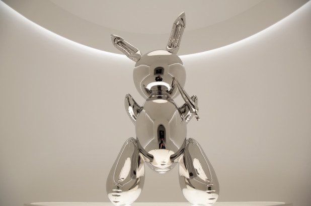 Stainless steel sculpture of 'Rabbit' by Jeff Koons sold