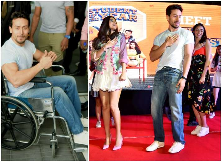 Tiger Shroff entertains audience with broken leg; See SOTY 2 actor's LATEST photos on a wheelchair