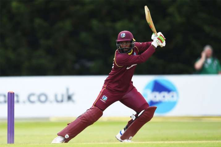 Sunil Ambris maiden ton leads West Indies to 5-wicket win over Ireland