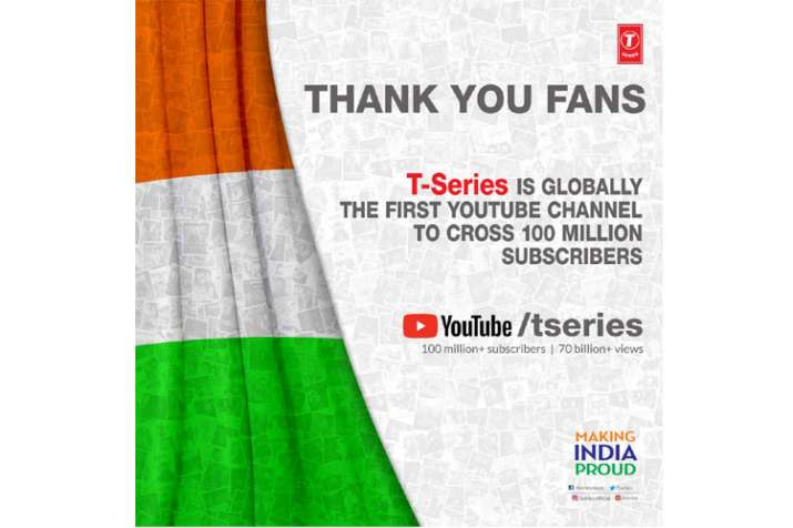 Image result for t series 100 million subscribers