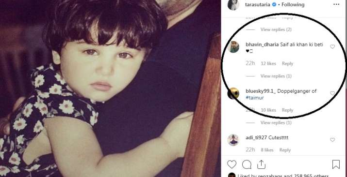 India Tv - Fans call Tara Sutaria a twin sister of Taimur Ali Khan.