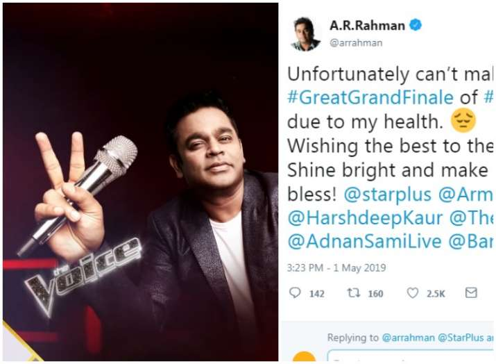 A. R. Rahman to miss the grand finale of The Voice Season 3; Oscar-winning music composer isn't well