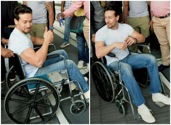 India Tv - Bollywood actor Tiger Shroff latest pictures on a wheelchair