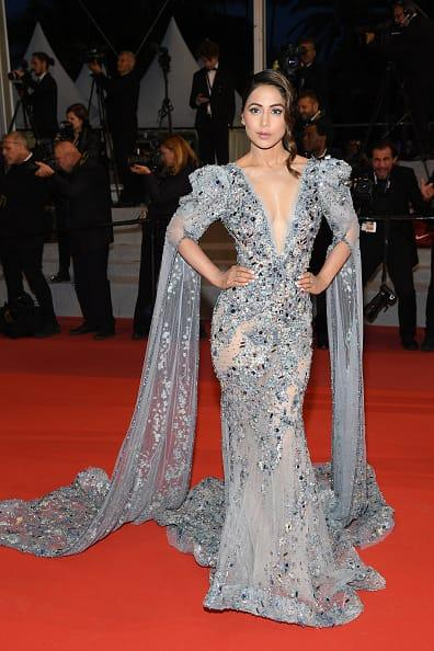 India Tv - Cannes 2019: Hina Khan dazzles in her red carpet debut look at the French Riviera- See photos