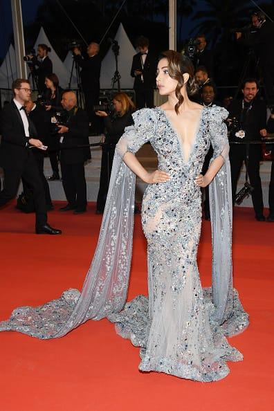 India Tv - Hina Khan walks the red carpet at Cannes Film Festival 2019