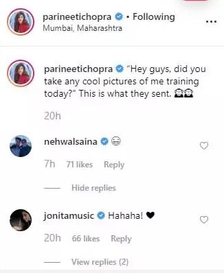 India Tv - Saina Nehwal's comment on Parineeti's picture