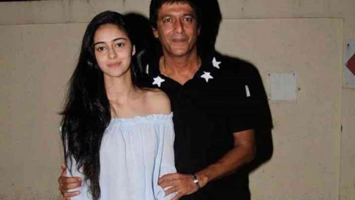 India Tv - Ananya Panday with father Chunky Panday