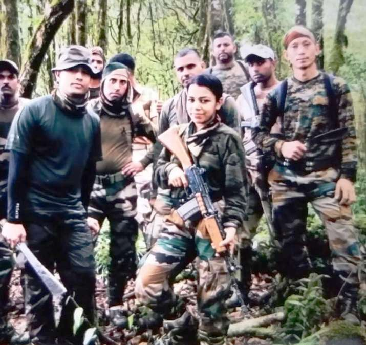 Indian Army lady officer lives upto 'Service Before