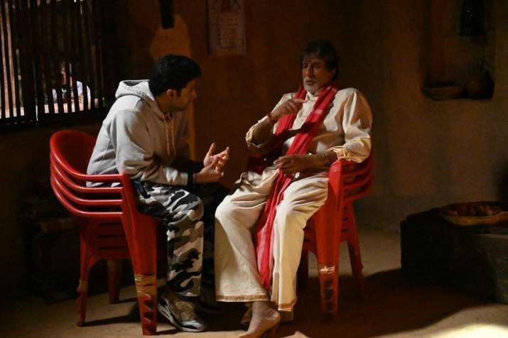 India Tv - Amitabh Bachchan shares cute moment with son Abhishek Bachchan