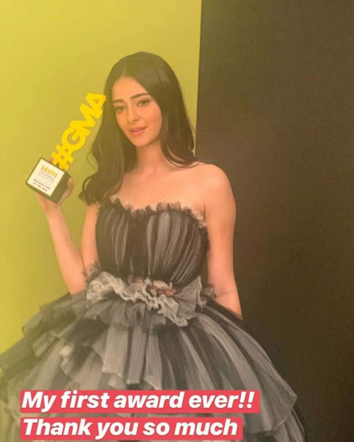 India Tv - Ananya panday's happiness was on another level