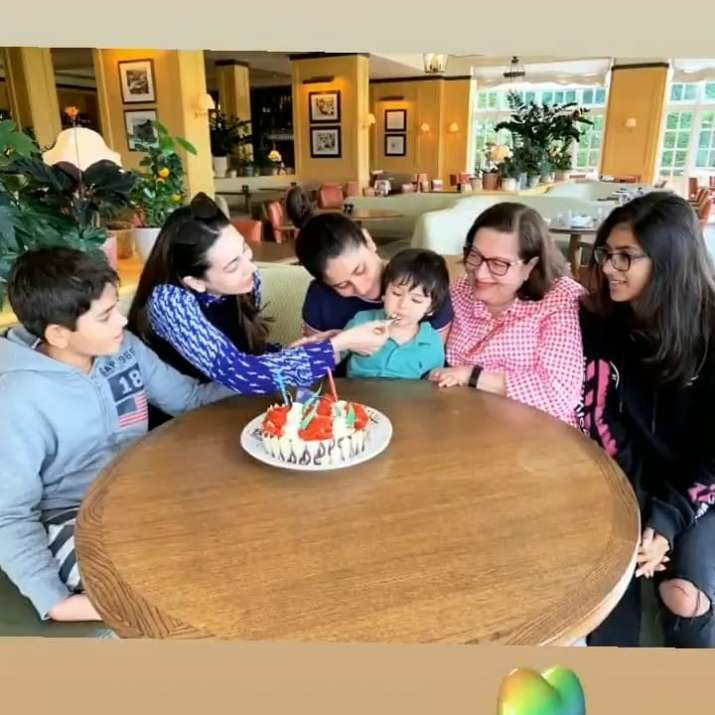 India Tv - Karisma Kapoor's 45th birthday celebration included pool time, lunch with friends & a lot of cake