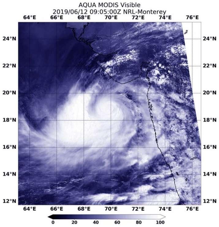 India Tv - Nasa satelite image of cyclone Vayu