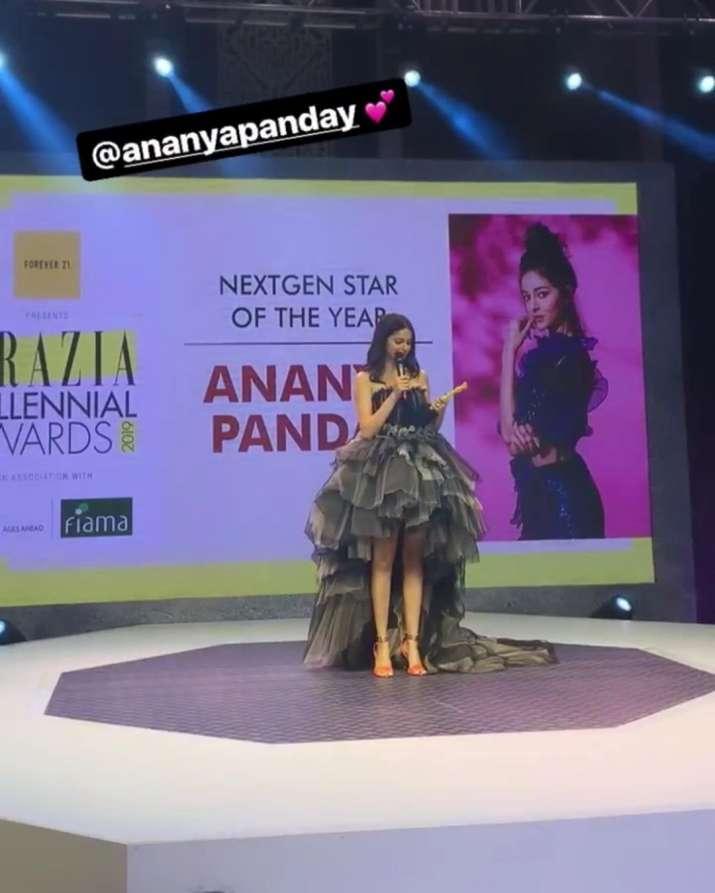 India Tv - Ananya Panday recieved her first award ever