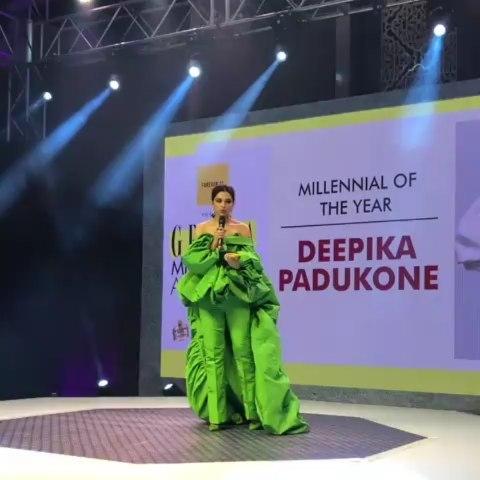 India Tv - Deepika Padukone gave a heartfelt speech after winning Millennial of the Year award