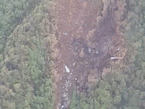 Wreckage of the AN-32 that was spotted on Tuesday.