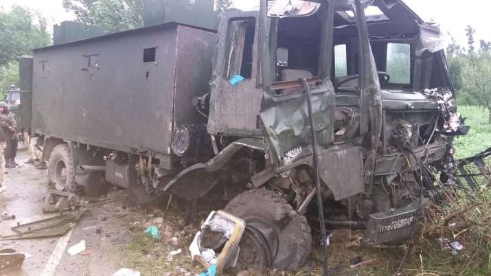Terrorists target army vehicle with IED blast in Pulwama, 9